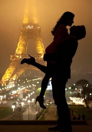 Couple Hugging in Air