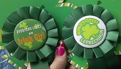 St Patricks Day Badges