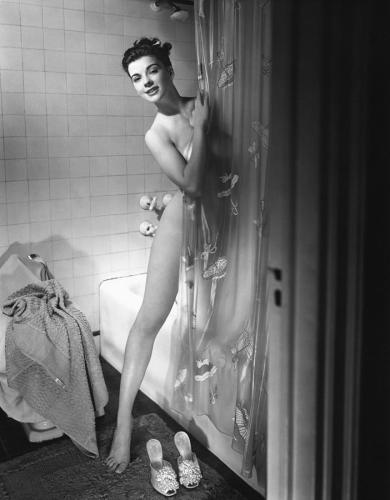 woman-behind-shower-curtain-george-marks